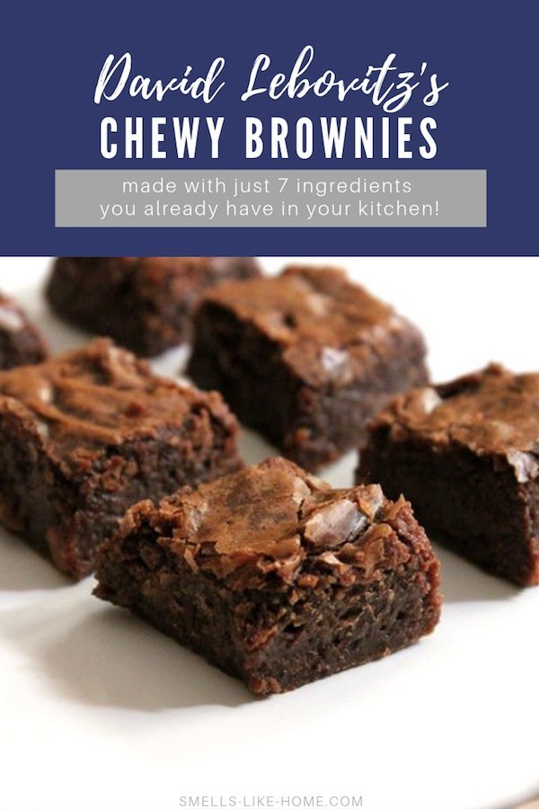David Lebovitz's chewy brownies are fudgy, delicious, and so incredibly simple to make! No box mix needed here, just 7 ingredients you probably already have in your kitchen! #david #brownies #lebovitz #chewy #dense #fudgy #crackly #icecream #alamode