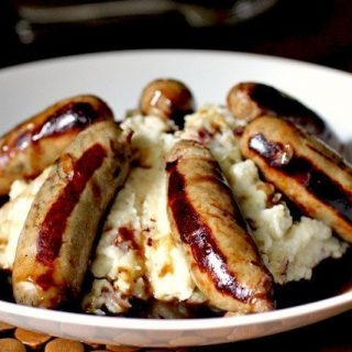 bangers and colcannon