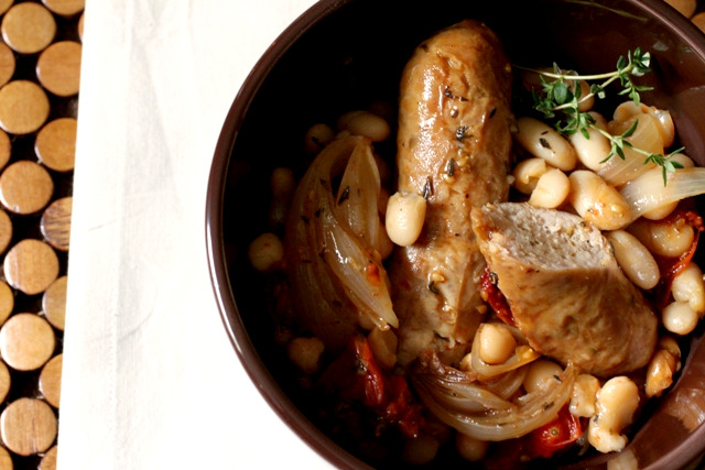 Cassoulet-Style Italian Sausages and White Beans