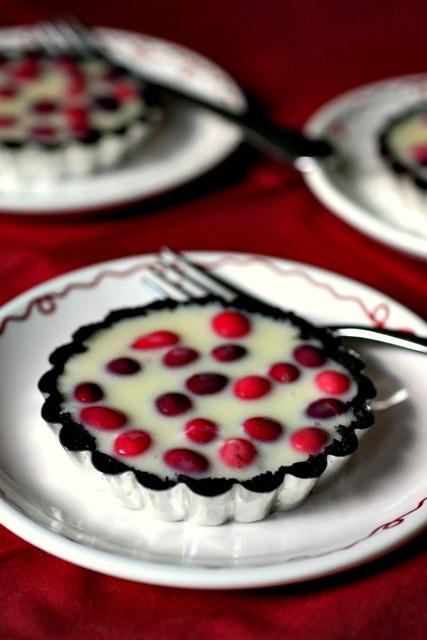 Black & White Cranberry Tarts