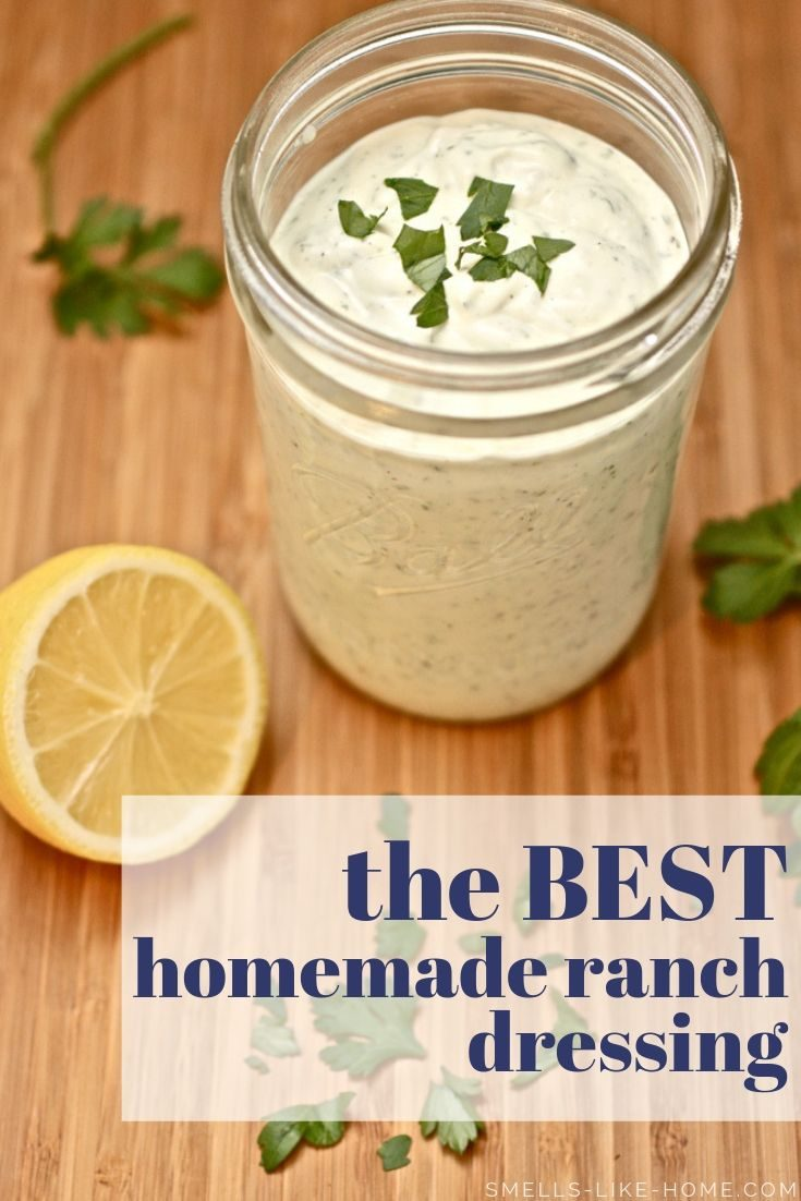 Homemade Ranch Dressing: So incredibly easy and quick (10 minutes!), you'll NEVER go back bottled ranch dressing again! #ranchdressing #homemaderanch #ranchdressingrecipe #saladdressing #ranch
