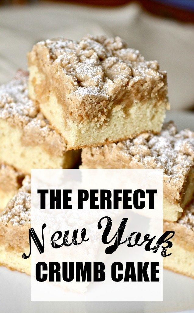 New York-style crumb cake: Your search for the perfect crumb cake is over. THIS is the only recipe you'll ever need! With big crumbs and soft, buttery cake, this crumb cake will become an old family favorite in no time. #crumbcake #coffeecake #newyork #ny #style #cake #crumb #coffee #homemade #fromscratch #soft #tender #square #bigcrumb #entemanns #bakery #copycat #ultimate from @taraslh