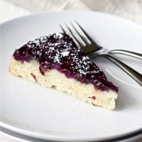 Blueberry Buttermilk Upside-Down Cake