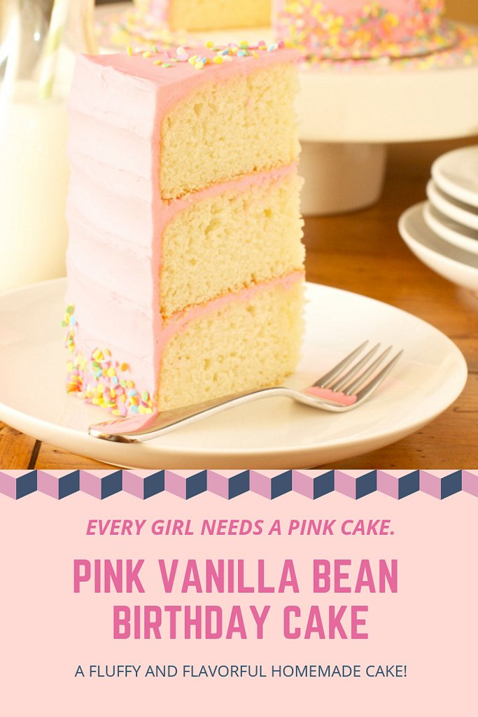 Pink Vanilla Bean Birthday Cake Every Girl Needs A Frilly And This