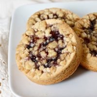 Dorie's Blueberry and Peach Vanilla Bean Jammers