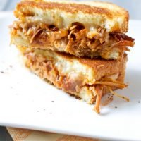 BBQ Pulled Pork Grilled Cheese Sandwiches