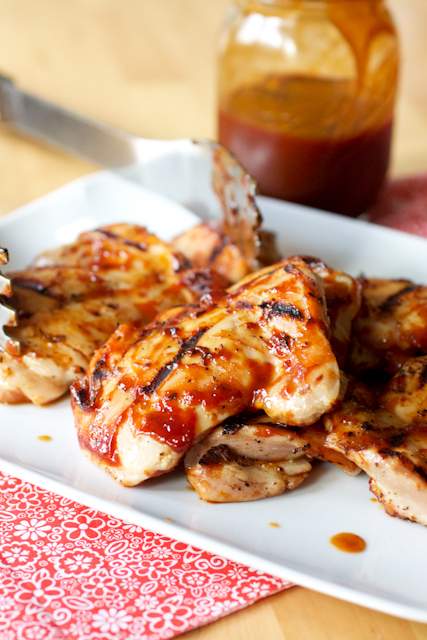 Quick-Brined Barbecued Chicken Thighs - Smells Like Home