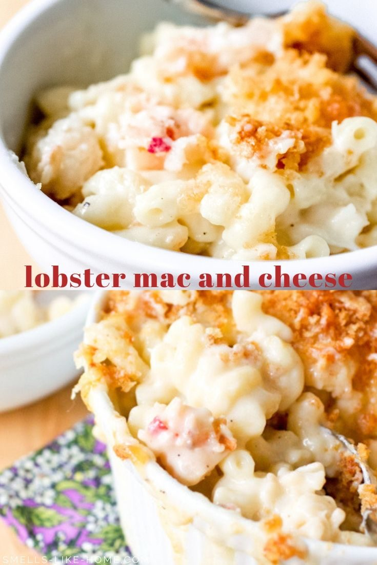 Lobster Mac and Cheese: Pure indulgence made in your own kitchen! Stop spending $30 for restaurant lobster mac and cheese and make your own! #lobstermacandcheese #homemade #lobstermac #inagarten #barefootcontessa