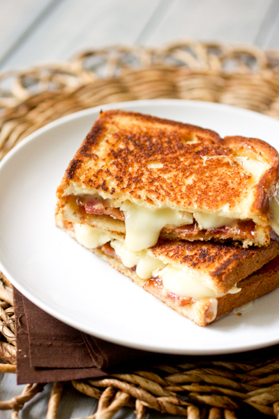 Bacon Brie and Fig Jam Grilled Cheese