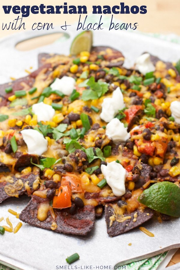 Black Bean and Corn Enchilada Nachos