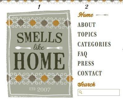 Smells Like Home Redesign Logo and Nav Menu