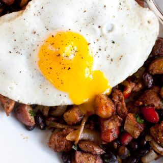 Smoky Chorizo Hash and Eggs
