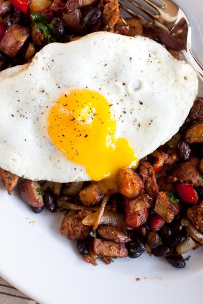 Smoky Chorizo Hash Browns and Eggs