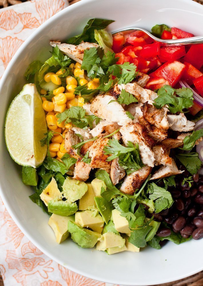 Southwest Chicken Chopped Salad with Chipotle's Honey Dressing