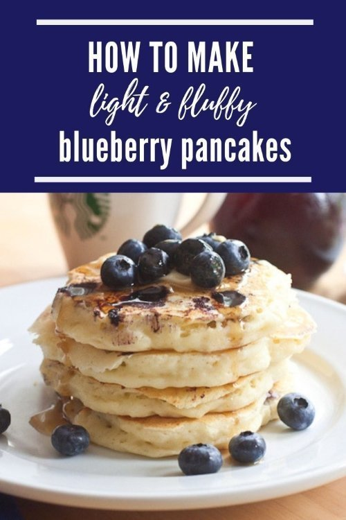 light fluffy blueberry pancakes