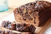 Peanut Butter Cup Hot Fudge Banana Bread