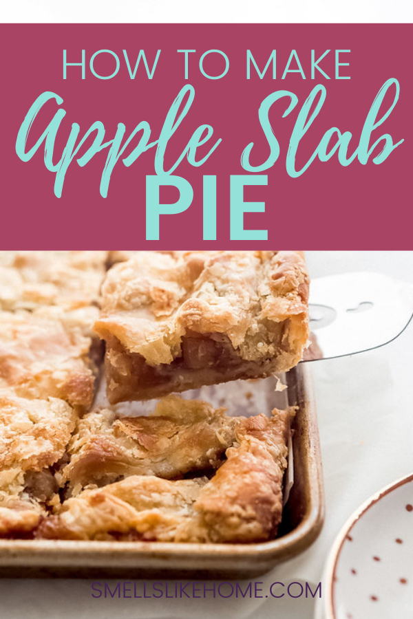 Pinnable image for Apple Slab Pie Recipe