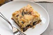 Caramelized Onion and Spinach Egg Casserole