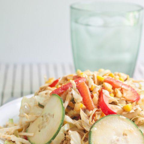 Crunchy Spicy Peanut Lime Salad