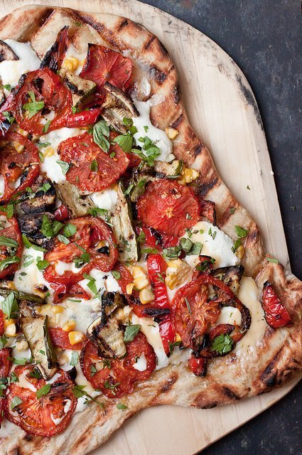 Grilled Farmer's Market Pizza | Smells Like Home