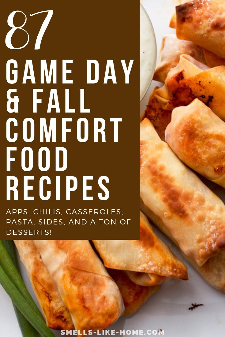Game Day and Fall Comfort Food Recipes