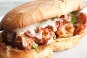 Garlic Bread Spicy Meatball Parm Subs