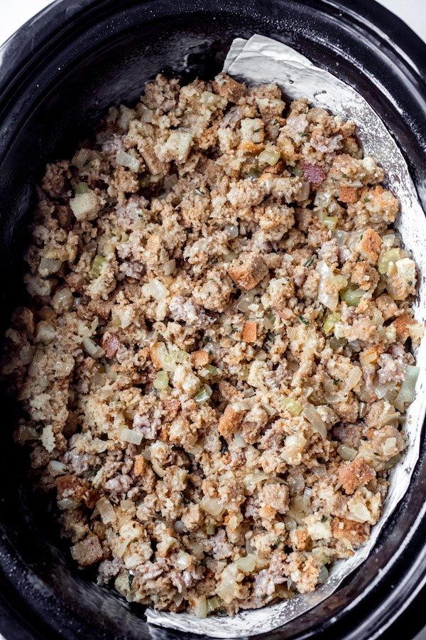 Thanksgiving Crock Pot Stuffing