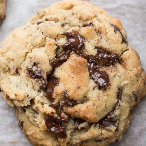 Levain Copycat Giant Dark Chocolate Chunk Cookies