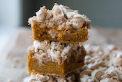 Pumpkin Sour Cream Crumb Bars