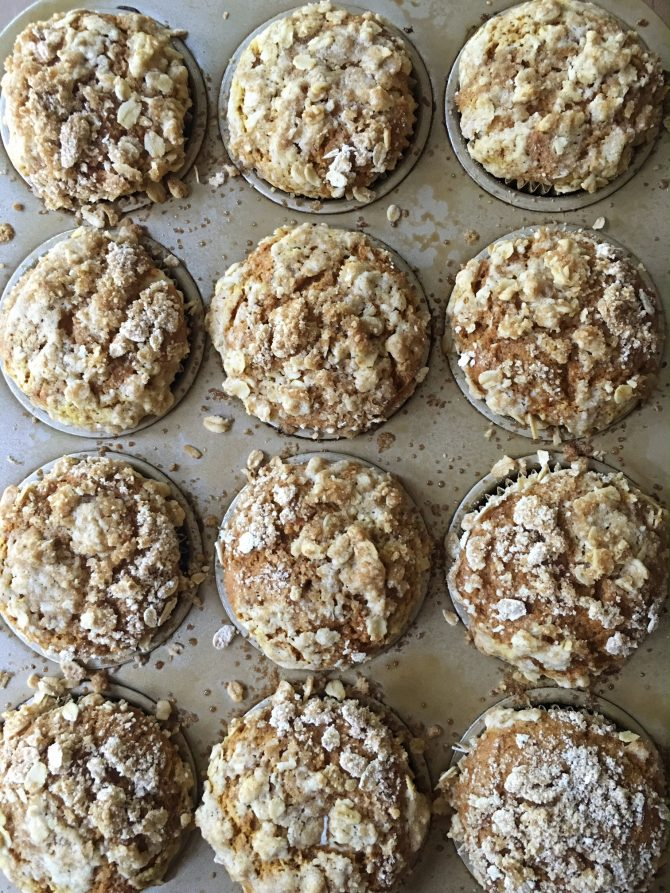 Pumpkin Cream Cheese Muffins with Streusel Topping