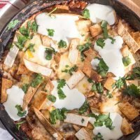 Baked Ranchero Eggs with Blistered Jack Cheese