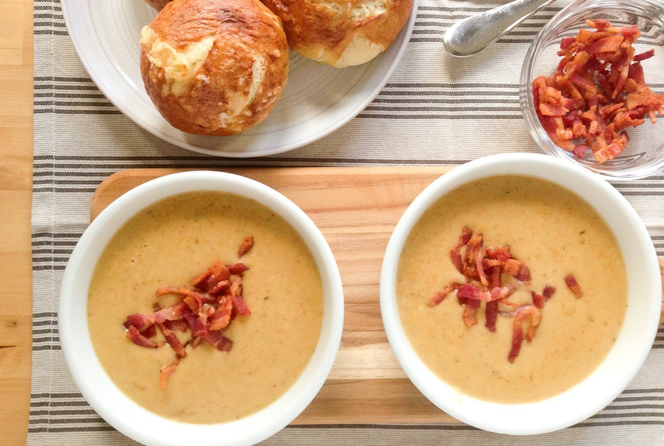 Bacon Cheddar Ale Soup