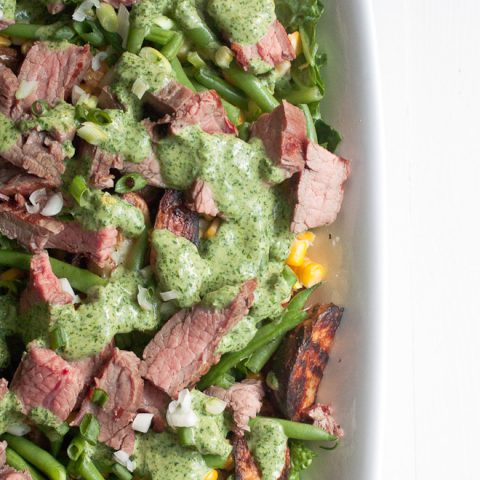 Chimichurri Steak and Potato Salad