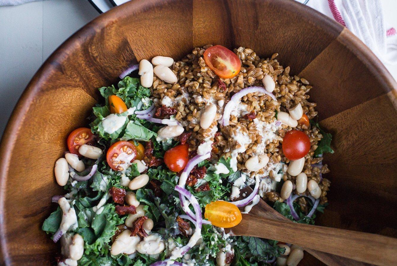 Kale, White Bean and Farro Salad