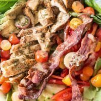 Rosemary Chicken Bacon Avocado Salad with Rosemary Vinaigrette