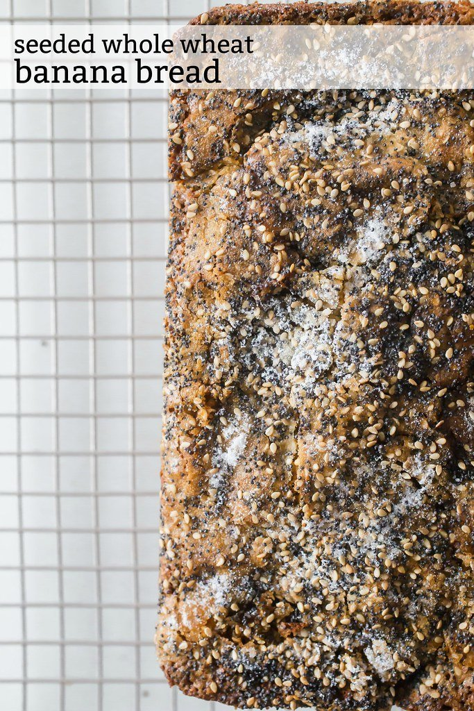 With its sugar-seeded crackly top, this seeded whole wheat banana bread is an unforgettable and unconventional recipe that you'll keep forever in your recipe files.