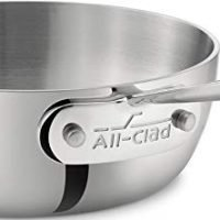 All-Clad 1-quart Stainless Steel Tri-Ply Bonded Dishwasher Safe Saucier Pan / Cookware
