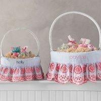 Preppy Eyelet Easter Basket Liners