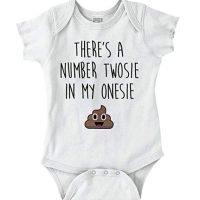 Twosie in My Onesie Funny Baby Poop Humor Romper Bodysuit
