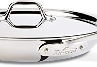 All-Clad 12-inch Stainless Steel Fry Pan with Lid, Dishwasher Safe , Tri-Ply Bonded