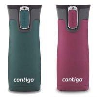 Contigo AUTOSEAL West Loop Vacuum-Insulated Stainless Steel Travel Mug (16 oz, Set of 2)