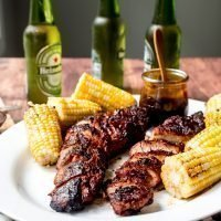 Bourbon Peach BBQ Grilled Pork Tenderloin