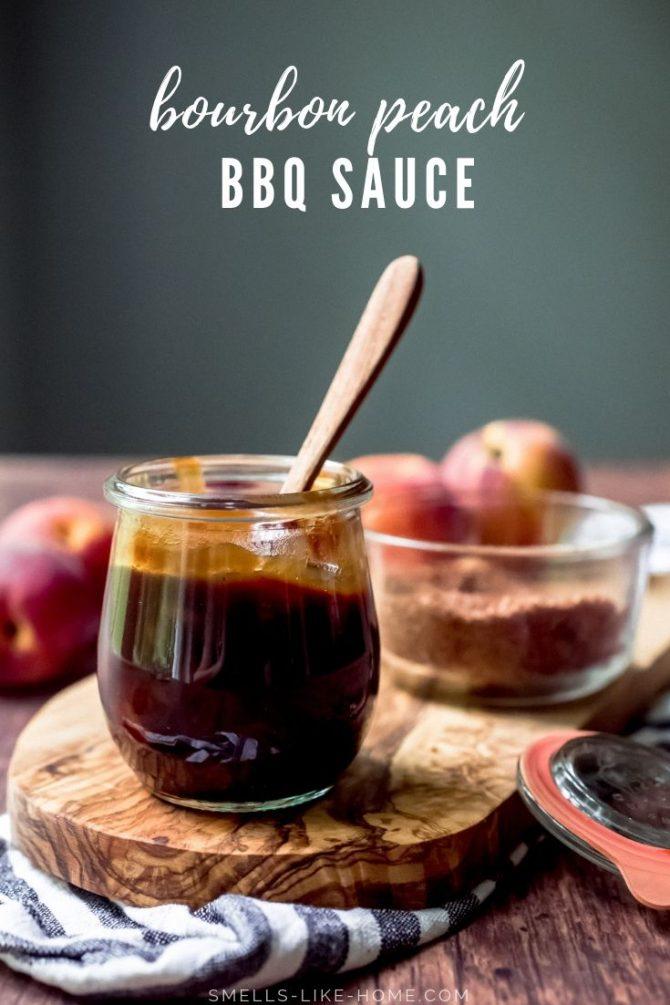 Bourbon Peach BBQ Sauce for Pinterest