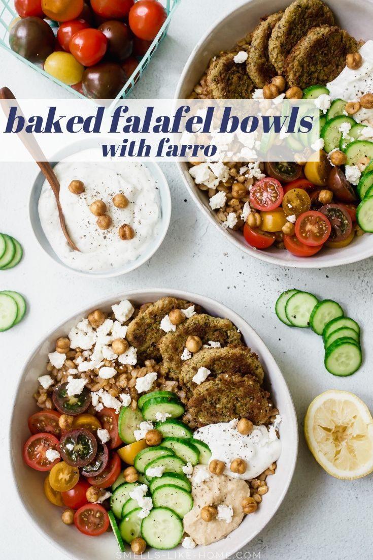 Baked Falafel Bowls