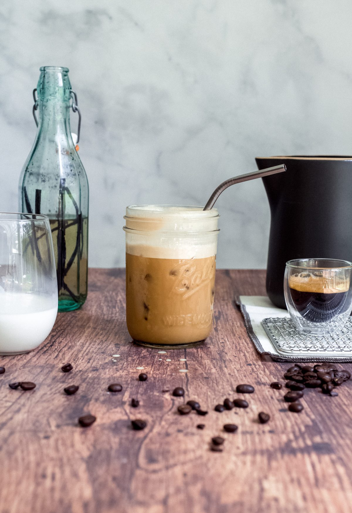Iced Vanilla Latte large 1 1200x1747 How To Make Iced Coffee At Home With Hot Coffee