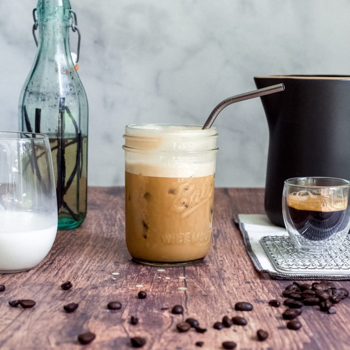 Iced Vanilla Latte (Starbucks Copycat Recipe)
