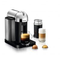 Breville-Nespresso USA BNV250CRO1BUC1 Vertuo Coffee and Espresso Machine, Bundle - Chrome