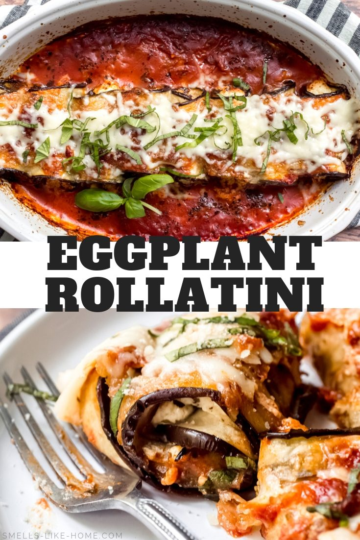 Eggplant Rollatini (Lightened Up): A lighter version of the classic eggplant rollatini, this Italian recipe is still an ultimate comfort food! #eggplant #rollatini #vegetarian #comfortfood #glutenfree