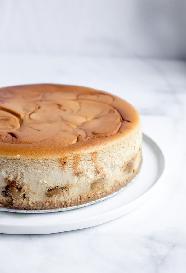Salted Caramel Apple Cheesecake