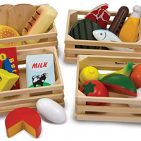 Melissa & Doug Wood Pretend Play Food